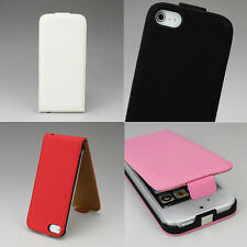 1 PC iPhone 5 Synt Leather Top Open Flip Case Skin Protector Cover fit iPhone 5S