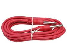NEW 6 ft foot RED 1/4 TS mono guitar to amp effects fx pedal patch cable cord