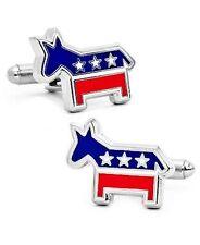 Democratic Donkey Cufflinks USA Party Wedding Gift