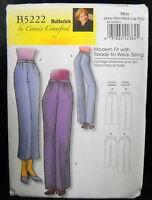 Butterick Pattern #B5222 Misses/Miss Petite Pants Size (XS-S-M-L-XL)