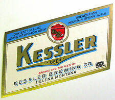 Kessler Brewing KESSLER BEER label MT 12oz Max 4% ABW