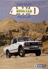 Datsun Nissan 4WD King Cab Pick Up 1983-84 UK Market Foldout Sales Brochure