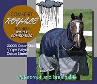 "COMFORT ~ROYALE-RANGE~6'3""~ PADDOCK 2000D 300G COMBO HORSE RUG"