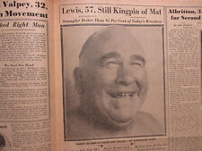 "1948 The ALL-SPORTS NEWS/Sporting News Insert(w/ED ""STRANGLER"" LEWIS/JOE  LOUIS)"