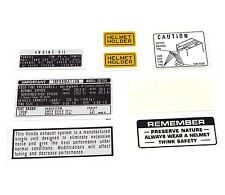 Warning and Service Label Decal Set - Honda CB750K CB750 Decals - 1971 - 1972