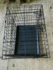 "Dog Cage Puppy Pet Crate Carrier - Large 24"" X 17"" Metal"