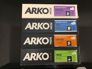 ARKO Mens Shaving Moisturising Cream 100ML COMFORT|FRESH|SENSITIVE|COOL|HYDRATE