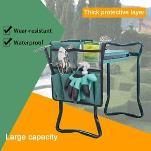Foldable Soft Kneeling Pad Bench Portable Stool Tool Pouch Garden Kneeler Seat