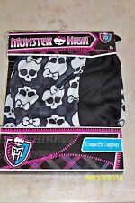 GIRLS MONSTER HIGH LOGO BLK SKULL CREEPERIFIC LEGGINGS COSTUME DRESS S/M XS12898
