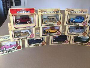 Lledo Model Cars X 10, Job Lot, Mint, Boxed