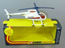 "CORGI TOYS MODEL No.921      HUGHES 369  ""POLICE""  HELICOPTER     MIB"