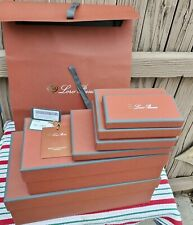 Lot of 7 Loro Piana (Empty) Boxes + Paper Satchel & Tag