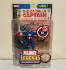 TOY BIZ MARVEL LEGENDS SERIES I CAPTAIN AMERICA W/32 PAGE COMIC & DISPLAY STAND