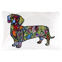 """Pickle /& Dot 50/""""x60/"""" DACHSHUND Sausage Hot Dog Dogs White Throw Blanket NEW"""