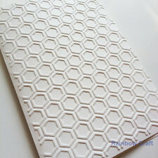 5 Embossed Cards & Envelopes Honey Comb Wedding invitations party invitations