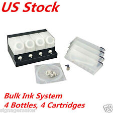 US Stock Roland / Mimaki / Mutoh Printer Bulk Ink System-4 Bottles+4 Cartridges