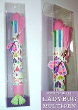LADYBUG Multi penna + matita QUARTA PARETE 6 colori inchiostro TARME CIMICI Ciondolo a Farfalla