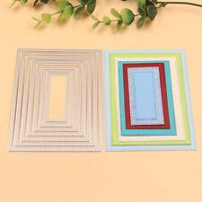 7Pcs Metal Rectangle Mould Cutting Dies Stencil DIY Scrapbook Album Paper Card