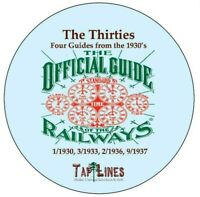 1930, 1933, 1936 & 1937 Four OFFICIAL GUIDES  4 Different PDFs Scanned to DVD