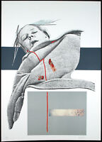 """Mujer"", 1975. Grossformatige Lithographie Dario VILLALBA (*1939 E) handsigniert"