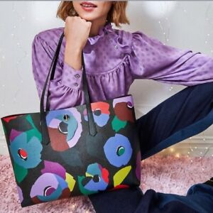 🌸NWT Kate Spade New York Molly Floral Collage Large Tote Leather with Pouch NEW
