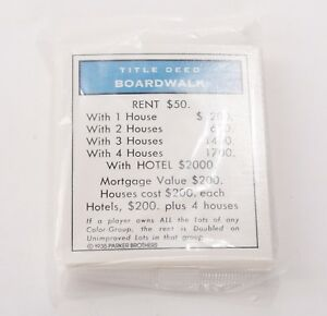 Monopoly Replacement Pieces and Parts Classic Edition New! Choose what You Need
