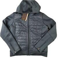 Calia Carrie Underwood Moto Hybrid Jacket SZ L Graphite Gray Blue Full Zip