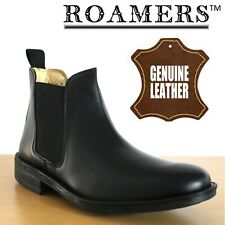 Roamers 'Urban City' Men's Twin Gusset Black Leather Chelsea Ankle Dealer Boots