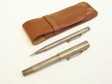#1296 - Altes USUS Schreibset - 900er Silber - Kolbenfüllhalter - Bleistift