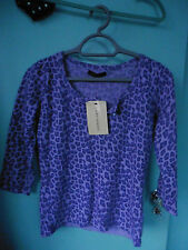 Laura Ashley BNWT jumper 12 Beautiful soft mauve Lambswool/angora Pearl button