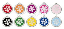 Flower Enamel/Solid Stainless Steel Engraved ID Dog/Cat Tag
