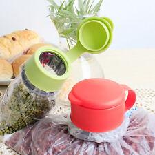 Plastic Food Storage Kitchen Airtight Sealer Reusable Bag Cap Screw liau