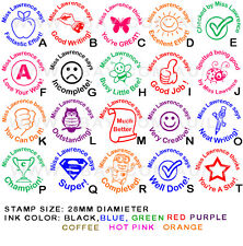 Personalised Customised Self Pre inking Teacher School Student Stamp P1 (A-T)