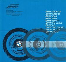 BMW 3200 S CS 1500 1800 Ti 700 LS Cabrio C Prospekt Brochure 1963 54