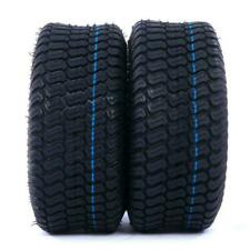 2 Tires Tubeless 15x6.00-6 Turf Tires 4Ply Lawn Mower tires