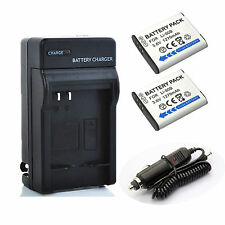 2x Battery + Charger for Olympus Stylus Tough TG1,TG2 iHS,TG3,TG4 Digital Camera