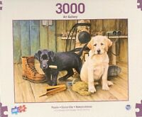 "3,000 Piece Jigsaw Puzzle - Art Gallery Puppy Dogs On Break Time (42"" x 32"")"