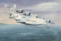 Mid 20th Century Watercolour - Sunderland Flying Boat