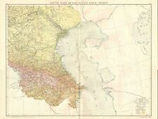 1920 LARGE MAP- SOUTH EAST RUSSIA & CAUCASIAN STATES