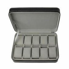 Brandnew 10 Slots Watch Zipper Travel Box Leather Display Case Organizer Storage