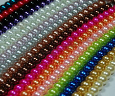 Fashion Charm Glass Pearl Round  Lightful Spacer Beads 23 Colors 4/6/8/10mm