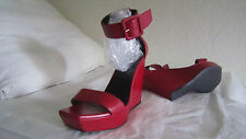 Yves Saint Laurent Red Paris Wedge Sandal Italy  Sz 38  Us 8