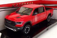 MotorMax 1/24 Scale 79358 - 2019 Ram 1500 Crew Cab Rebel - Red