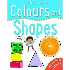 (Good)-Learn to Write Colours and Shapes (Wipe-Clear) (Paperback)-Miles Kelly-17