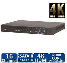 DAHUA 4K NVR, 16CH Channel Network Video Recorder Ultra High Definition 8-12MP