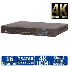 DAHUA 4K NVR, 16CH Channel Network Video Recorder Ultra High Definition 8-12MP