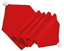 Red Felt Dinner Table Runner Santa Hat Christmas Decorations Dining Table Xmas