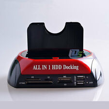 "All In 1 2.5"" 3.5"" Dual IDE SATA Hard Drive Disk HDD Clone Dock Docking Station"