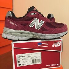 NEW BALANCE 990 SERIES M990BU3 BURGUNDY MENS RUNNING SHOES Size 8 Wide 2E