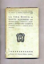 Dante Alighieri # LA VITA NUOVA # G. C. Sansoni Editore 1913